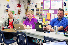 Educators learning together in professional development course