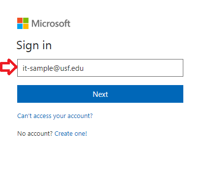 Office 365 instructions Screenshot
