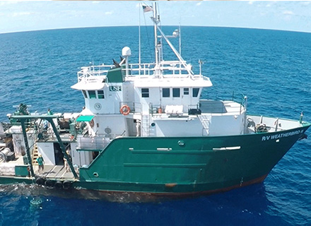 USF College of Marine Science's Research Vessel Weatherbird II.