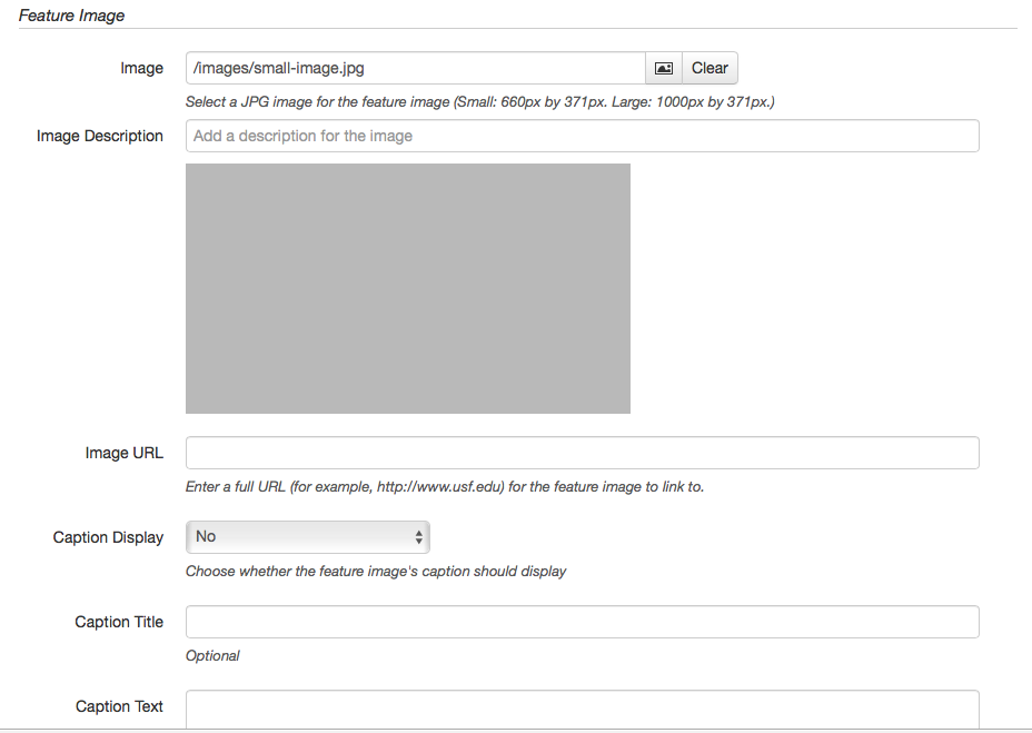 feature image form