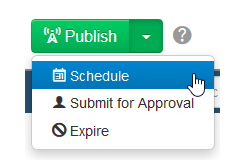 Publish Schedule Button