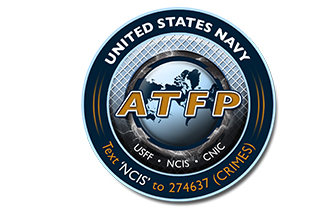 U.S. Navy Anti-Terrorism Force Protection: Text 'NCIS' to 274637 (CRIMES)